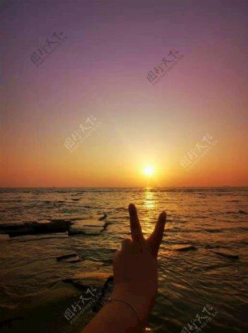 涠洲岛日出图片