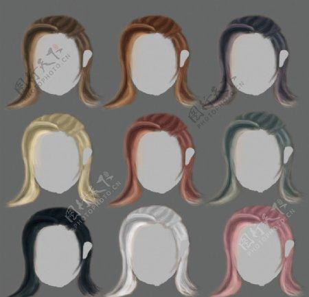 发型色系参考图片