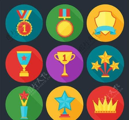 奖牌和奖杯图标图片