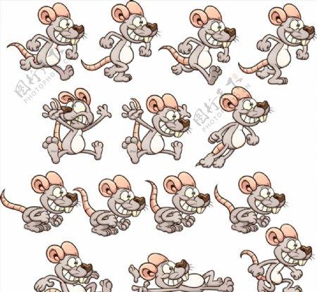卡通大牙老鼠图片