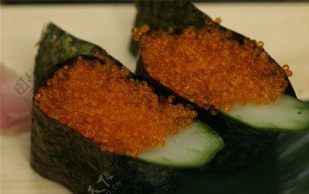 飞鱼籽寿司图片