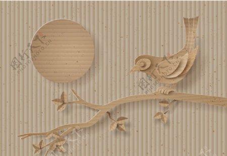 喜鹊剪纸图片