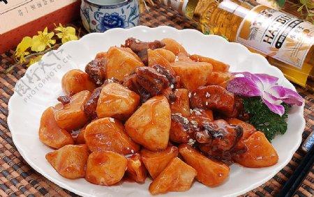 东北菜日本土豆可乐排图片