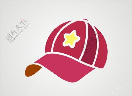 鸭舌帽矢量帽子图片