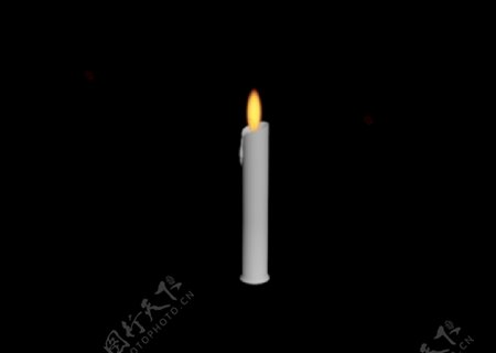 蜡烛三维动态图片