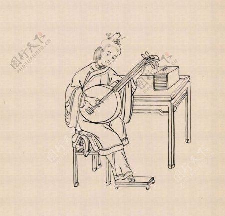中国传统文化三十六行手绘线描画图片