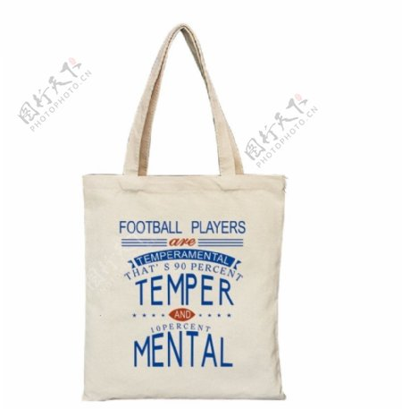 football运动员手提袋图片