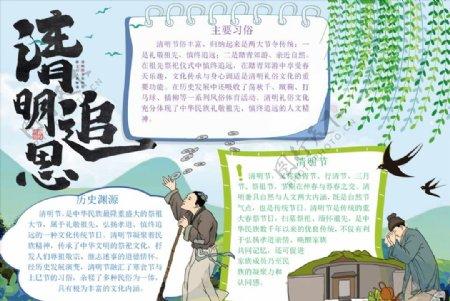 清明节踏青手抄报图片