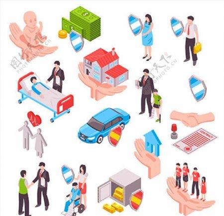 保险营销信息图表图片
