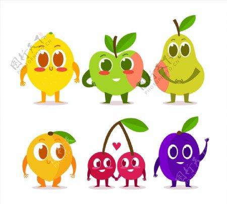 表情水果矢量图片