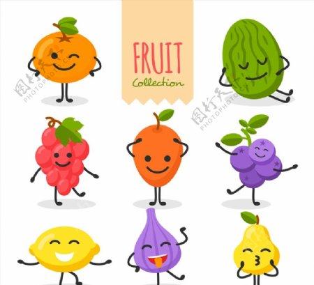 笑脸表情水果图片