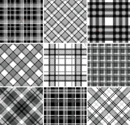 黑白格子布料图案图片
