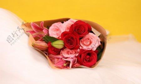 玫瑰花束拍摄素材图片