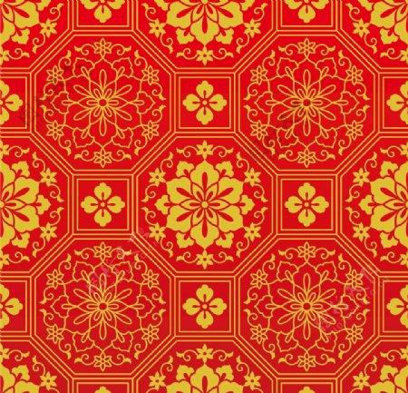 中式传统花纹底纹四方连续图案图片