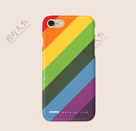 彩虹手机壳样机图片
