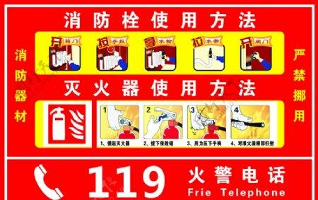 消防器材使用说明图片
