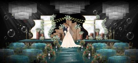 木板婚礼图片