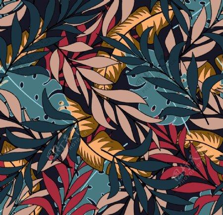 彩色叶子图片