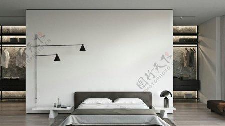 黑白灰卧室图片