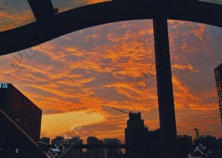 黄昏日落图片