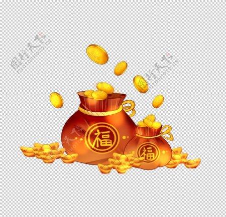 红包金币素材图片