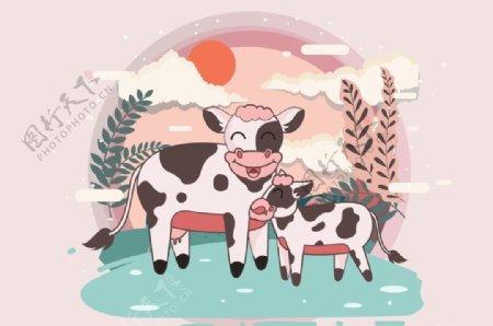 牛奶牛小牛图片