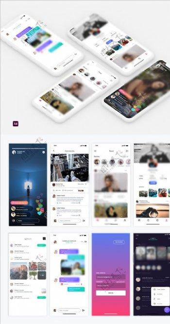 xd设计浅色UI设计播放页列表图片