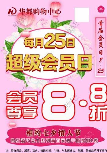 会员日超市活动海报宣传图片
