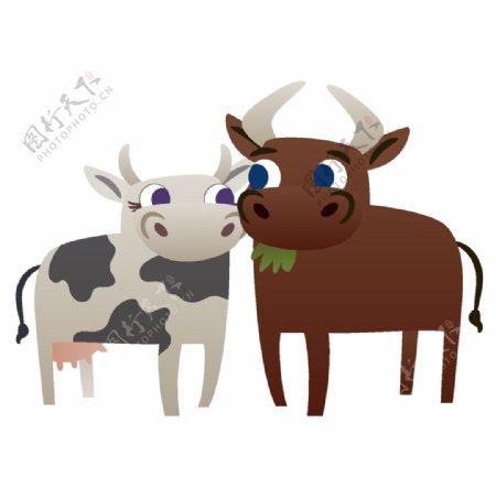 奶牛与公牛图片