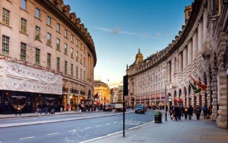 欧式建筑与街道图片