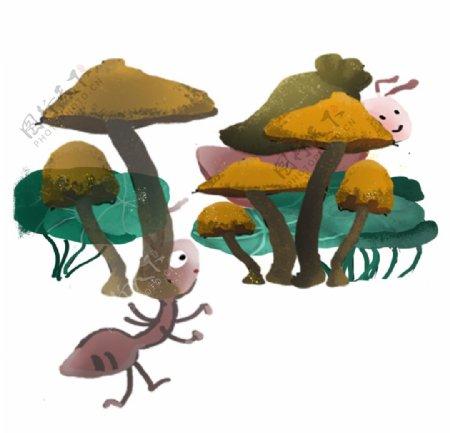 蚂蚁插画素材图片
