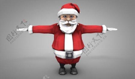 C4D模型圣诞老人图片
