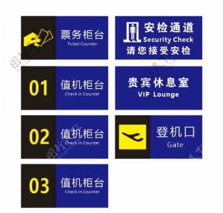 机场标识牌图片