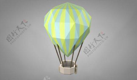 C4D模型热气球图片