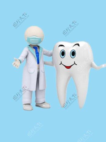 牙齿和医生图片
