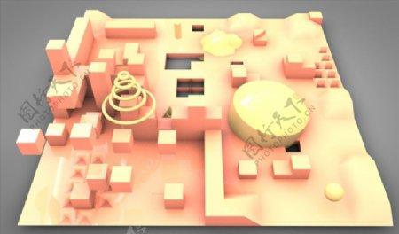 C4D模型基地图片