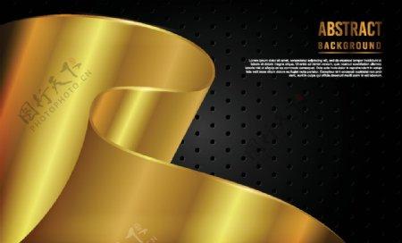 弯曲折叠样式抽象背景图片
