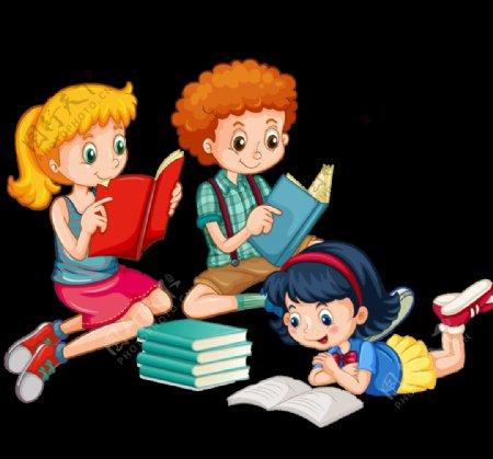 儿童读书图片