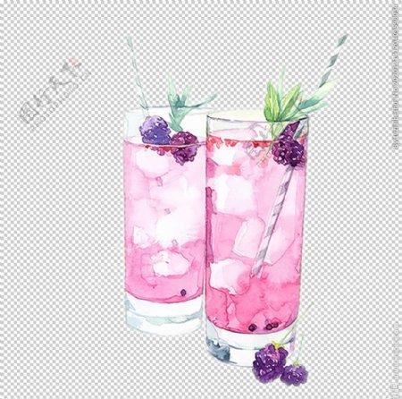 蓝莓饮品饮料夏季海报素材图片
