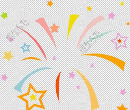 庆祝春节元旦新传装饰星星烟花图片