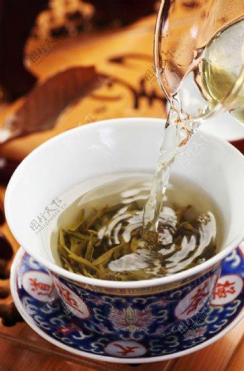喝茶茶水铁观音饮茶茶叶图片