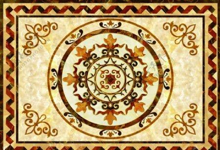 天花油画地毯图纹天花吊顶装饰画图片