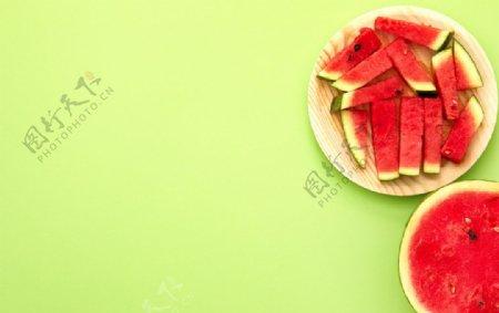 西瓜块图片