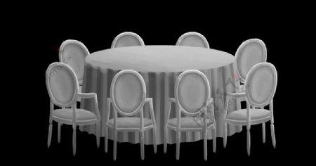 白色酒店宴会桌图片