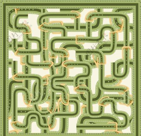 迷宫方巾图片