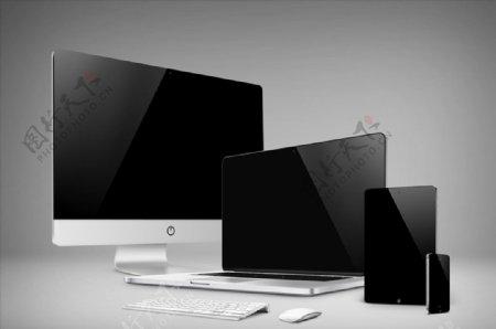 台式电脑平板手机素材图片
