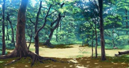 动漫森林图片