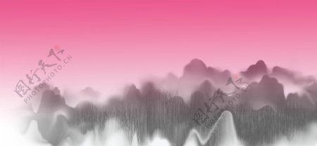 抽象水墨画背景图片