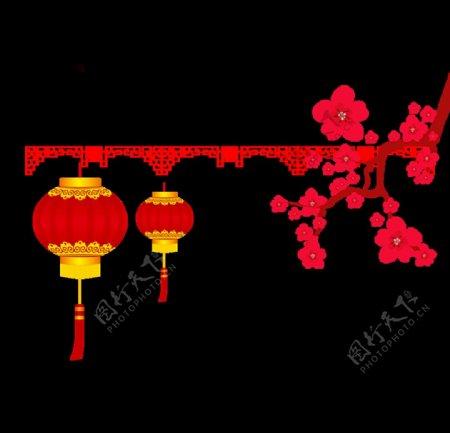 元旦灯笼中秋国庆新年春节灯图片