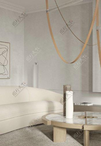 客厅墙纸展示图片